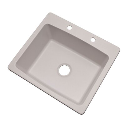 Northbrook 25 x 22 Kitchen Sink Finish: Soft White, Faucet Drillings: 2 hole