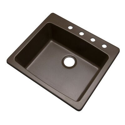 Northbrook 25 x 22 Kitchen Sink Finish: Mocha, Faucet Drillings: 4 hole