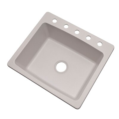 Northbrook 25 x 22 Kitchen Sink Finish: Soft White, Faucet Drillings: 5 hole