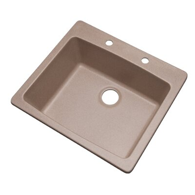 Northbrook 25 x 22 Kitchen Sink Finish: Desert Sand, Faucet Drillings: 2 hole