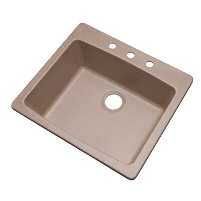 Northbrook 25 x 22 Kitchen Sink Finish: Desert Sand, Faucet Drillings: 3 hole