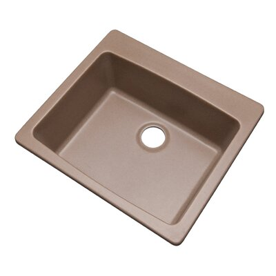 Northbrook 25 x 22 Kitchen Sink Finish: Natural, Faucet Drillings: No hole