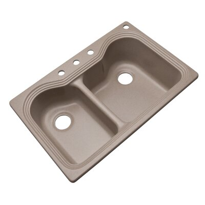 Breckenridge 33 x 22 Kitchen Sink Finish: Desert Sand, Faucet Drillings: 4 hole