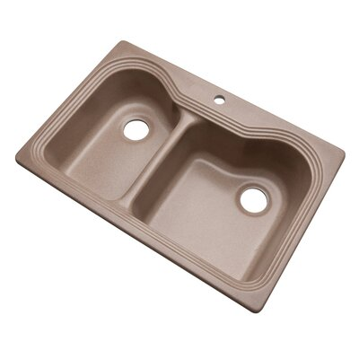 Breckenridge 33 x 22 Kitchen Sink Finish: Natural, Faucet Drillings: 1 hole