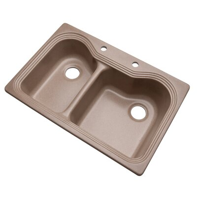 Breckenridge 33 x 22 Kitchen Sink Finish: Natural, Faucet Drillings: 2 hole