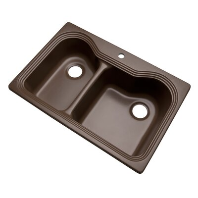 Breckenridge 33 x 22 Kitchen Sink Finish: Mocha, Faucet Drillings: 1 hole