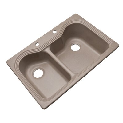 Breckenridge 33 x 22 Kitchen Sink Finish: Desert Sand, Faucet Drillings: 2 hole