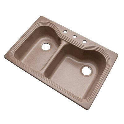 Breckenridge 33 x 22 Kitchen Sink Faucet Drillings: 3 hole, Finish: Natural