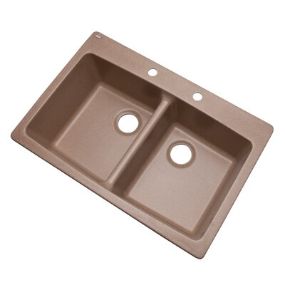 Waterbrook 33 x 22 Kitchen Sink Finish: Natural, Faucet Drillings: 2 hole