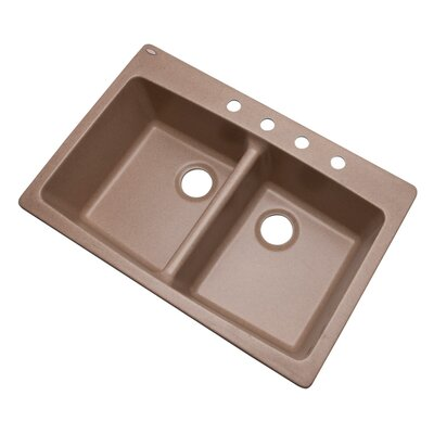 Waterbrook 33 x 22 Kitchen Sink Finish: Natural, Faucet Drillings: 4 hole