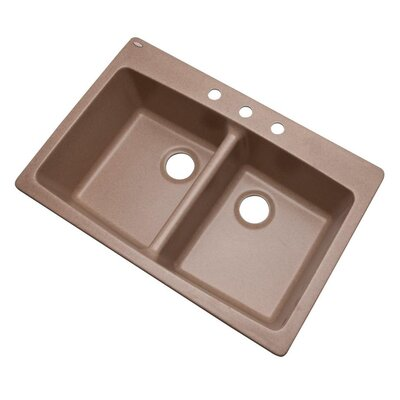 Waterbrook 33 x 22 Kitchen Sink Finish: Natural, Faucet Drillings: 3 hole