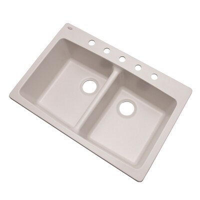 Waterbrook 33 x 22 Kitchen Sink Finish: Soft White, Faucet Drillings: 5 hole