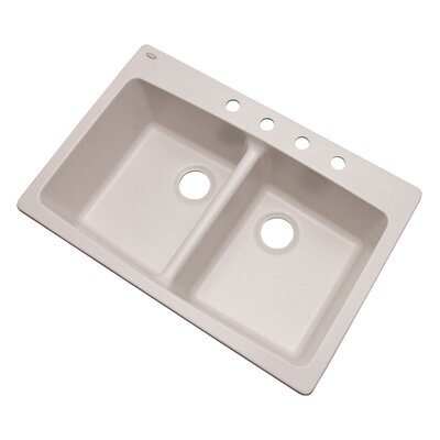 Waterbrook 33 x 22 Kitchen Sink Finish: Soft White, Faucet Drillings: 4 hole