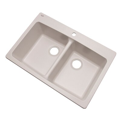 Waterbrook 33 x 22 Kitchen Sink Finish: Soft White, Faucet Drillings: 1 hole