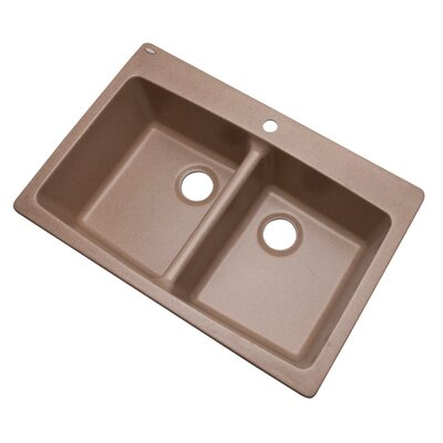 Waterbrook 33 x 22 Kitchen Sink Finish: Natural, Faucet Drillings: 1 hole