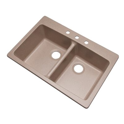Waterbrook 33 x 22 Kitchen Sink Finish: Desert Sand, Faucet Drillings: 3 hole