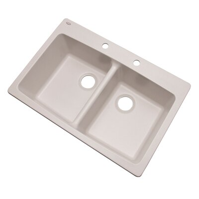 Waterbrook 33 x 22 Kitchen Sink Finish: Soft White, Faucet Drillings: 2 hole