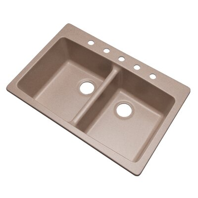 Waterbrook 33 x 22 Kitchen Sink Finish: Desert Sand, Faucet Drillings: 5 hole