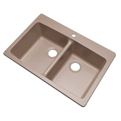 Waterbrook 33 x 22 Kitchen Sink Finish: Desert Sand, Faucet Drillings: 1 hole