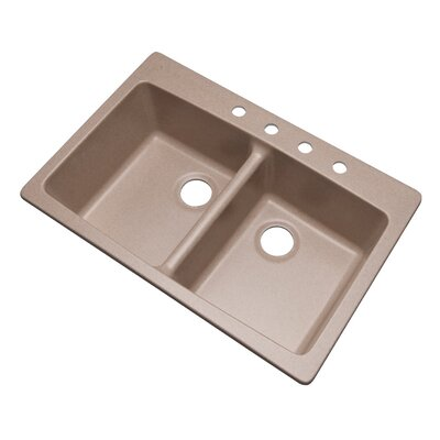 Waterbrook 33 x 22 Kitchen Sink Finish: Desert Sand, Faucet Drillings: 4 hole