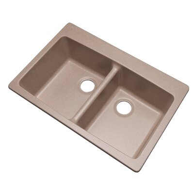 Waterbrook 33 x 22 Kitchen Sink Finish: Desert Sand, Faucet Drillings: No hole