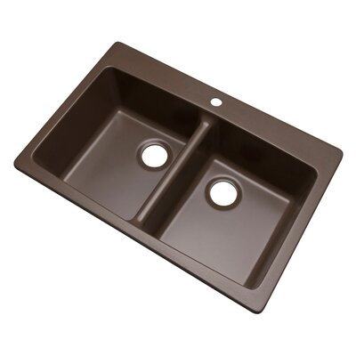 Waterbrook 33 x 22 Kitchen Sink Finish: Mocha, Faucet Drillings: 1 hole