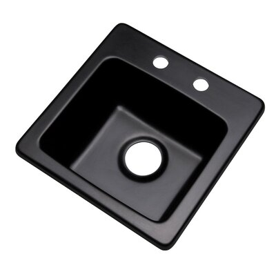 Westminster 16 x 16 Bar Sink Finish: Black, Faucet Drillings: 2 hole