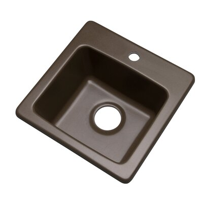 Westminster 16 x 16 Bar Sink Faucet Drillings: 1 hole, Finish: Mocha