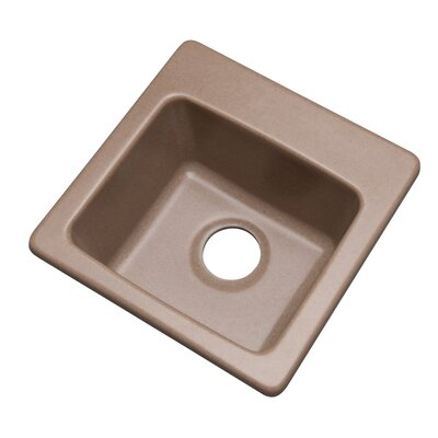 Westminster 16 x 16 Bar Sink Finish: Natural, Faucet Drillings: No hole