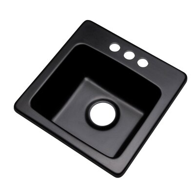 Westminster 16 x 16 Bar Sink Finish: Black, Faucet Drillings: 3 hole
