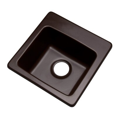 Westminster 16 x 16 Bar Sink Finish: Espresso, Faucet Drillings: No hole