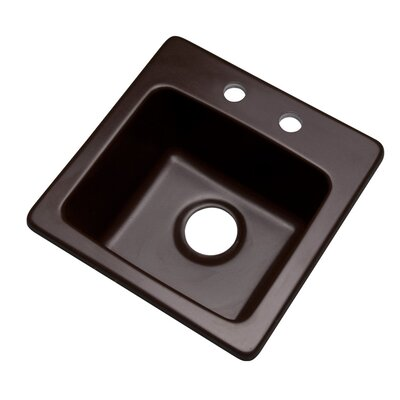 Westminster 16 x 16 Bar Sink Finish: Espresso, Faucet Drillings: 2 hole