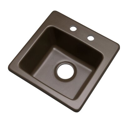 Westminster 16 x 16 Bar Sink Finish: Mocha, Faucet Drillings: 2 hole