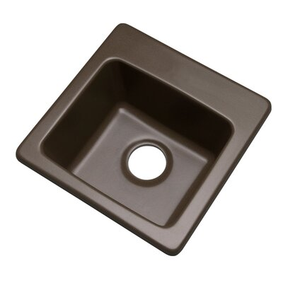 Westminster 16 x 16 Bar Sink Finish: Mocha, Faucet Drillings: No hole