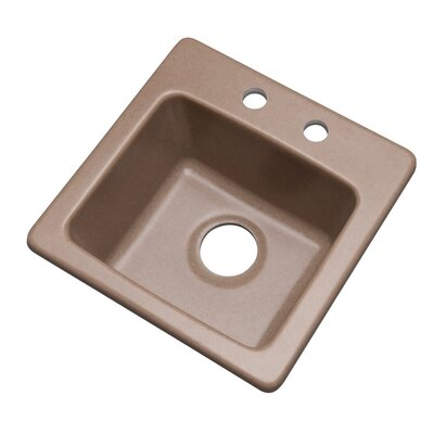 Westminster 16 x 16 Bar Sink Finish: Natural, Faucet Drillings: 2 hole
