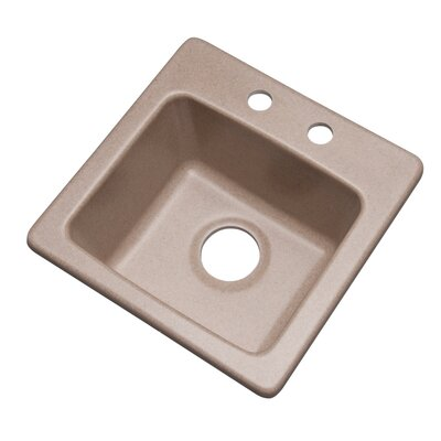 Westminster 16 x 16 Bar Sink Finish: Desert Sand, Faucet Drillings: 2 hole