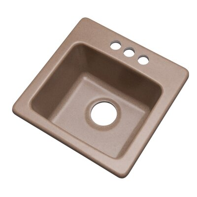 Westminster 16 x 16 Bar Sink Finish: Natural, Faucet Drillings: 3 hole