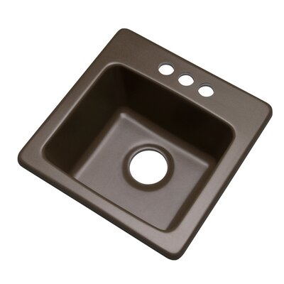 Westminster 16 x 16 Bar Sink Finish: Mocha, Faucet Drillings: 3 hole