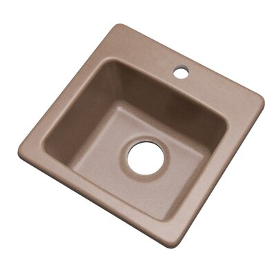 Westminster 16 x 16 Bar Sink Finish: Natural, Faucet Drillings: 1 hole