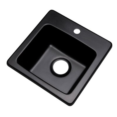 Westminster 16 x 16 Bar Sink Faucet Drillings: 1 hole, Finish: Black