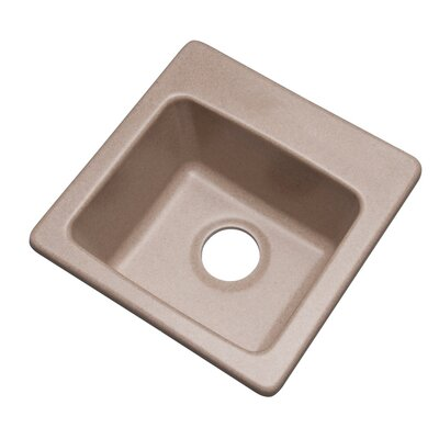 Westminster 16 x 16 Bar Sink Finish: Desert Sand, Faucet Drillings: No hole