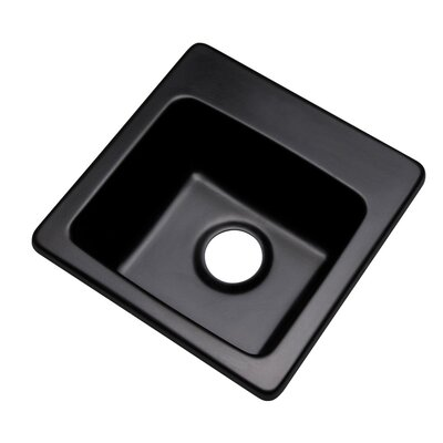 Westminster 16 x 16 Bar Sink Finish: Black, Faucet Drillings: No hole
