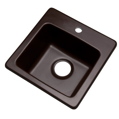 Westminster 16 x 16 Bar Sink Finish: Espresso, Faucet Drillings: 1 hole
