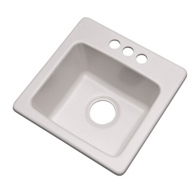 Westminster 16 x 16 Bar Sink Finish: Soft White, Faucet Drillings: 3 hole