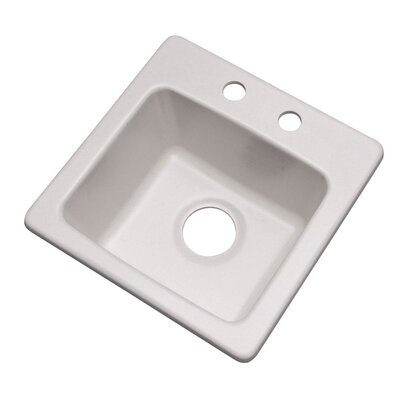 Westminster 16 x 16 Bar Sink Finish: Soft White, Faucet Drillings: 2 hole