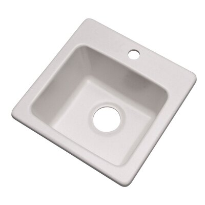 Westminster 16 x 16 Bar Sink Finish: Soft White, Faucet Drillings: 1 hole