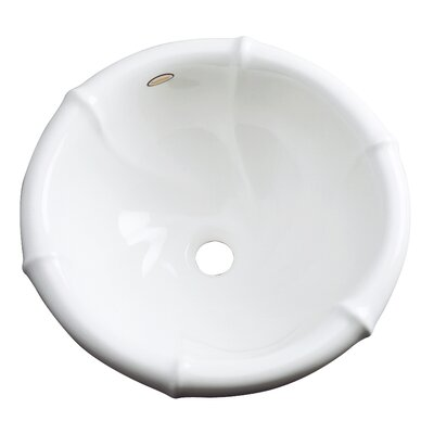 Ventura Circular Drop-In Bathroom Sink with Overflow Sink Finish: White