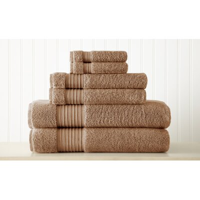 Adalrik 100% Turkish Cotton 6 Piece Towel Set Color: Mocha