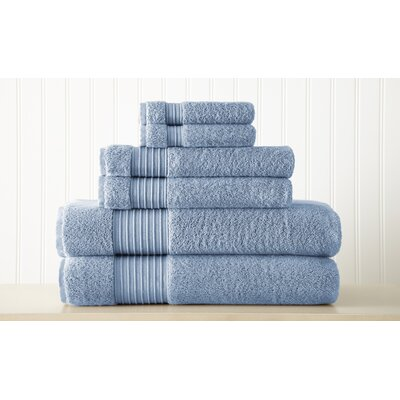 Adalrik 100% Turkish Cotton 6 Piece Towel Set Color: Denim