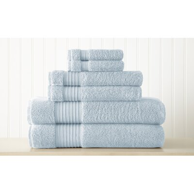 Adalrik 100% Turkish Cotton 6 Piece Towel Set Color: Light Blue